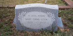 Mary Emma Ilee <i>Ellis</i> Cook