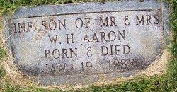 Infant Son Aaron