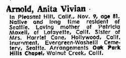 Anita Vivian <i>Phister</i> Arnold