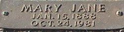 Mary Jane <i>Miller</i> Absher
