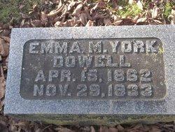Emma M <i>York</i> Dowel