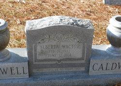 Maggie Alberta <i>Wactor</i> Caldwell