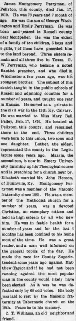 James Montgomery Perryman
