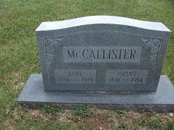 Jane <i>Mounts</i> McCallister