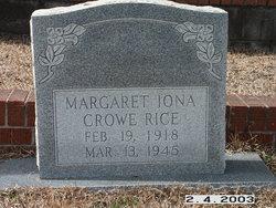 Margaret Iona <i>Crowe</i> Rice