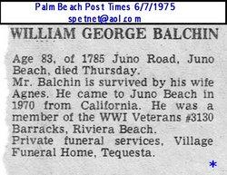 William George Balchin