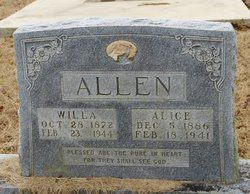 William A Will Allen