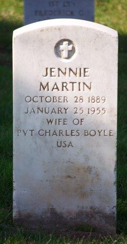 Jennie <i>Martin</i> Boyle