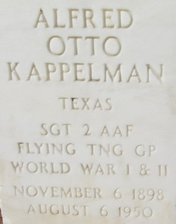 Sgt Alfred Otto Kappelman