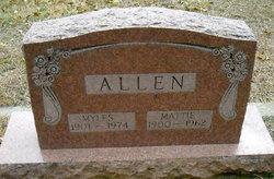 Mattie May <i>Tabor</i> Allen