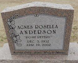 Agnes Rosella <i>Peters</i> Anderson