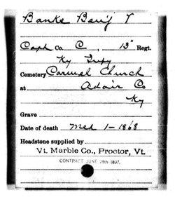Capt Benjamin V. Banks