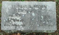 Thomas S Brown