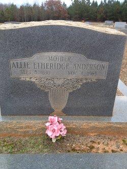 Allie <i>Etheridge</i> Anderson
