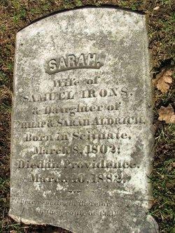 Sarah <i>Aldrich</i> Irons