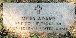 Pvt Miles W. Adams
