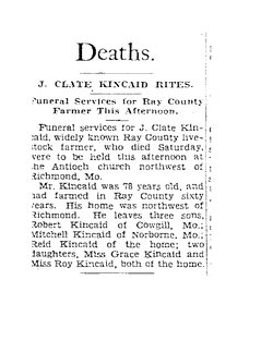 John Clayton Clate Kincaid