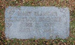 Mary Blanche <i>Kaylor</i> Brooks