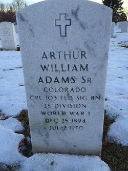 Arthur W Adams, Sr