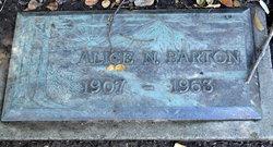 Alice N Barton