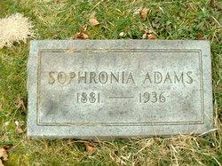 Sophronia B. <i>Traugh</i> Adams