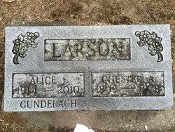 Alice L. <i>Gundelach</i> Larson