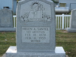 Helen Anna <i>Arentsen</i> Santel