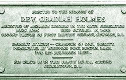 Rev Obadiah Holmes