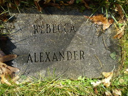Rebecca <i>Whiteside</i> Alexander