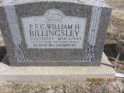 PFC William H Billingsley