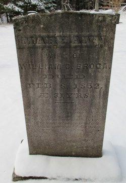 Mary Ann <i>Brown</i> Broga