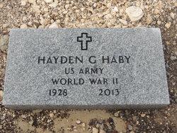 Hayden Griffin Mort Haby, Sr