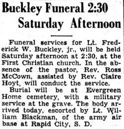 Lieut Frederick Watson Buckley, Jr