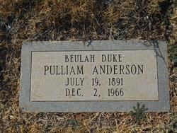 Beulah Duke <i>Pulliam</i> Anderson