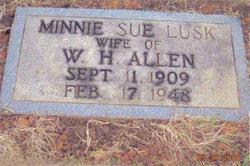 Minnie (Sue) <i>Lusk</i> Allen