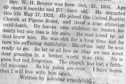 Rev William Henry Bruner
