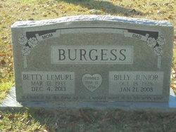 Billy Junior Burgess