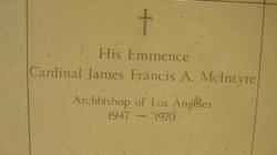 Cardinal James Francis Aloysius McIntyre