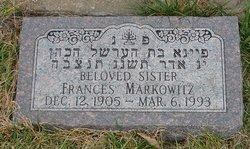 Frances M Markowitz