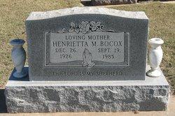 Henrietta M. Bocox