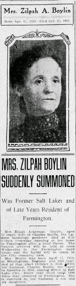 Zilpha <i>Ackerman</i> Boylin