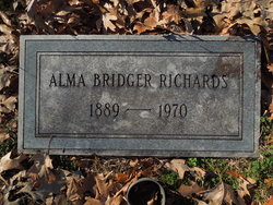 Dr Alma Elizabeth <i>Bridger</i> Richards