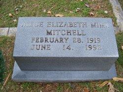 Alice Elizabeth <i>Mims</i> Mitchell