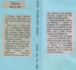 Colleen Ruth <i>Evans</i> Davis