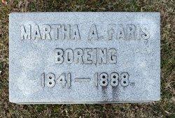 Martha A. <i>Faris</i> Boreing