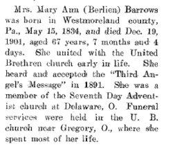 Mary Ann <i>Berlin</i> Barrows