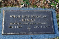 Willie Rice <i>Wardlaw</i> Hanley
