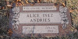 Alice Inez <i>Keefer</i> Andries