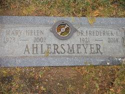 Dr Frederick E.K. Ahlersmeyer