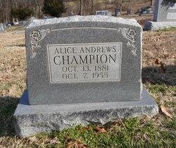 Alice <i>Andrews</i> Champion